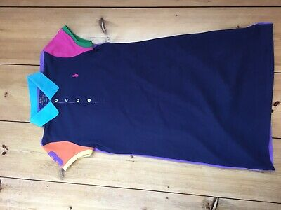 New With Tags Ralph Lauren Girls Navy Blue Mix Polo Dress Size Xl 12-14 Years