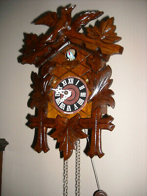 Vintage Albert Schwab Karisruhe Movement Small Black Forest Cuckoo Clock