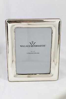 """Wallace Silversmiths 5"""" X 7"""" Sterling Frame Wood Easel Back"""