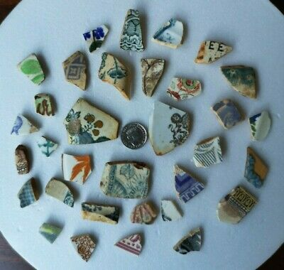 China and Pottery pieces, field and beach foraged from Cornwall