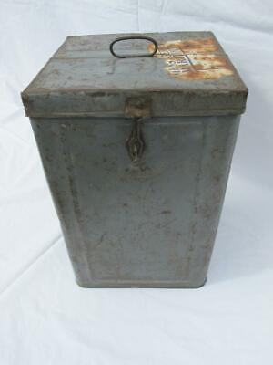 Vintage Tin Metal Alloy Travel Box / Storage Container Trunk Retro Shabby Chic