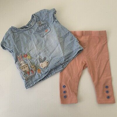 BABY GIRLS CLOTHES 3-6 Months NEXT Blouse Leggings Tu Outfit