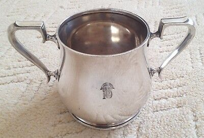 P & O silver plated, two handled cup, Elkington plate 1925