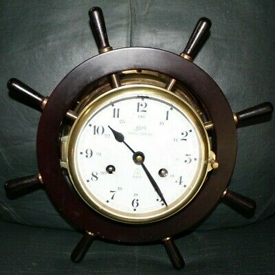 Vintage Schatz Royal Marine Wind Up Clock with key
