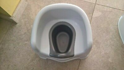 White and grey potty chair