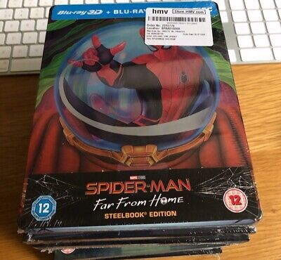 Spiderman Far From Home  Blu Ray  Steelbook Brand New & Unopened Hmv Exclusive