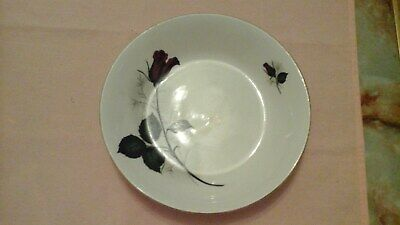Vintage Retro Swinnertons Staffordshire Earthenware Red Roses Shallow Bowl
