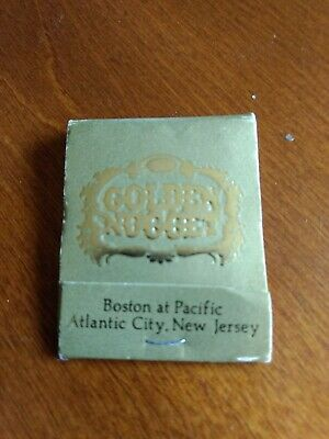 Vintage Atlantic City Golden Nugget Casino Matchbook - Great Condition