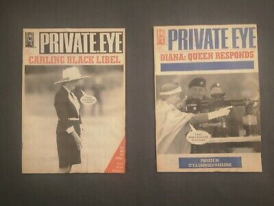 Private Eye 1995 2 Issues: 878; 886 Diana Issues