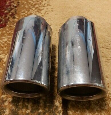 Stainless Steel Exhaust Tips. Original Volvo. Two Tips.