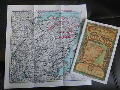 The Great North of Scotland Time Tables / Map. October 1922.