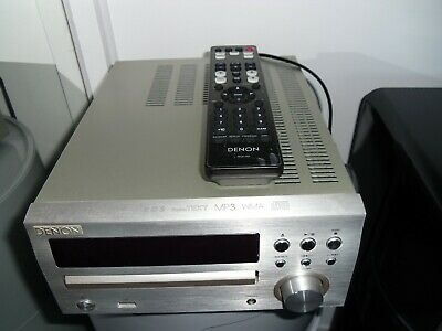 Denon RCD-M39 Silver DAB and CD with Q Acoustic 2020i speakers and stands
