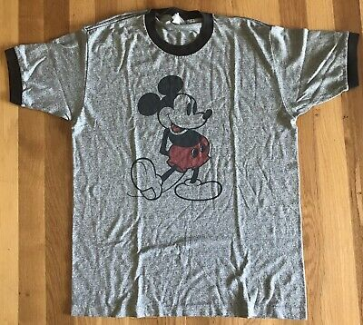 Disneyland Vintage Mickey Mouse T-Shirt 1980s size L grey