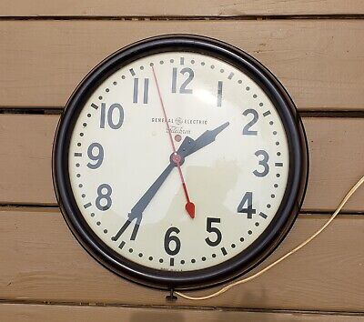 General Electric Telechrom Wall Clock 1940s