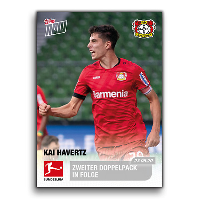 Topps now liga 2020-soccer card #153 Kai havertz-English Card