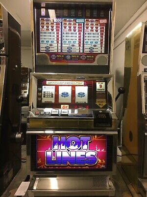 Bally 6000 Hot Lines 9 coin SLOT MACHINE