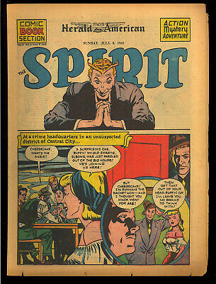 The Spirit Newspaper Comic Book Section Will Eisner Lady Luck July 8, 1945 VG+