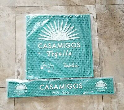 (2) CASAMIGOS TEQUILA SPILL MATs 1 Counter and 1 Rail  Brand New