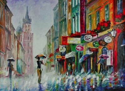 """Summer Downpour"" By Leonid Afremov Limited Edition Hand Embellished 30X40"