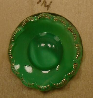 """WOW 3/4"""" Moonglow Outstanding Glass Antique Button 40:6"""