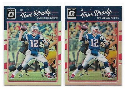 2016 Optic TOM BRADY New England Patriots #62 - SILVER HOLO PRIZM - LOT (2)