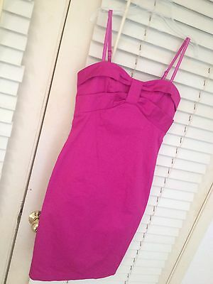 Sportstaff Hot Pink Spaghetti Strap Dress Small Sexy!!
