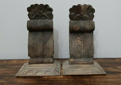 Timber Corbells Carved Shabby Industrial Chic Country Decor Restoration