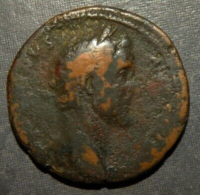 Roman Coin Caesar Emperor Bronze Ancient 50 AD  Cornucopias Antique Old Lot