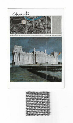 Christo REICHSTAG  -AK hand signed fabric swatch