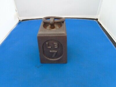Vintage Retro  7Lb Weight Cast Iron  Scale Weight Or Door Stop Ornament