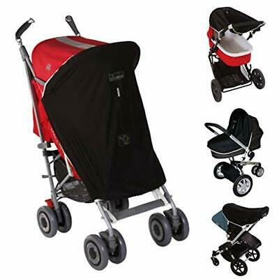 Universal pram and buggy sun shade (0-6m) blackout blind for