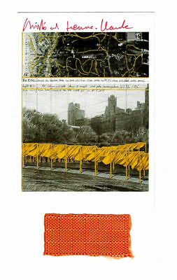 Christo & Jeanne Claude The Gates -AK hand signed fabric swatch