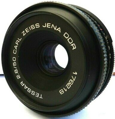 Carl Zeiss Jena DDR Tessar 50mm f2.8 Prime Lens  M42 Screw Fit, Inc Filter.
