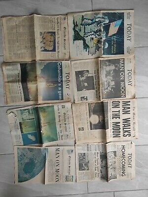 Lot of Newspapers Apollo 11 Moon Landing July 1969 Nasa and others