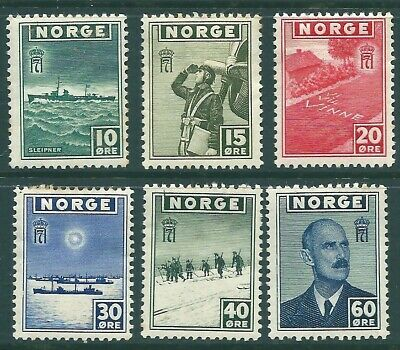 NORWAY 1943 mint Merchant Navy Letter stamps