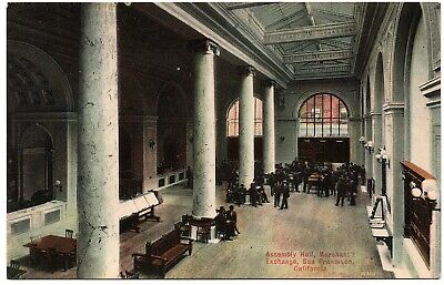 Assembly Hall Merchant's Exchange San Francisco CA Vintage Postcard Chas Weidner