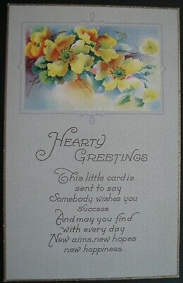 Hearty Greetings Series 1049 C Postcard Unused