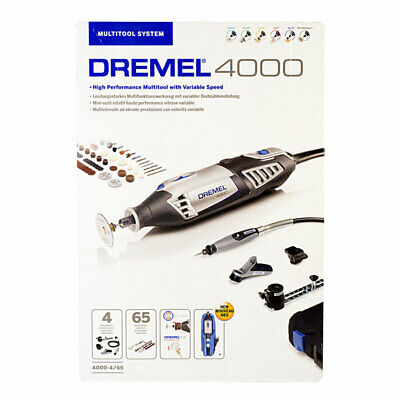 Dremel F0134000JR 4000-4/65 EZ Wrap Multi Tool With 4 Attachments + 65 Accs