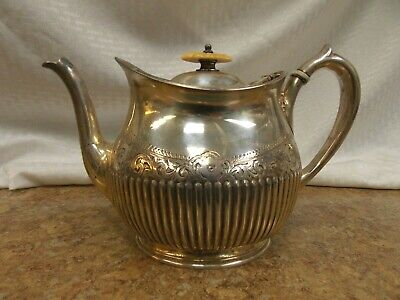 Vintage Philip Ashberry & Sons Silver Plate Tea - Coffee Pot Sheffield