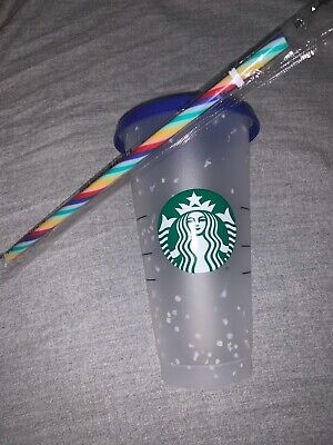 1 Starbucks Confetti Color Changing Cold Cup 2020 SOLD OUT ((FREE SHIPPING)) 🔥