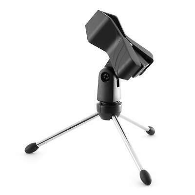Tiger Desktop Foldable Tripod Mic Stand & Mic Clip, Table Top, Microphone Stand