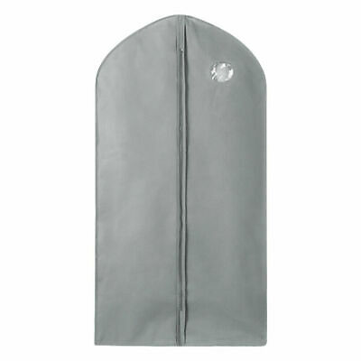 1x Garment Bag Suit Storage Cover Home Dress Clothes Coat Dust Protector Gray US