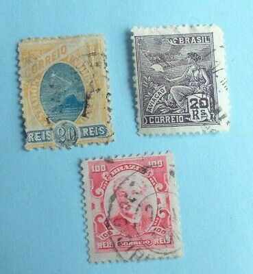 STAMPS  BRAZIL  Lot  of  3    -   1866 - 1933