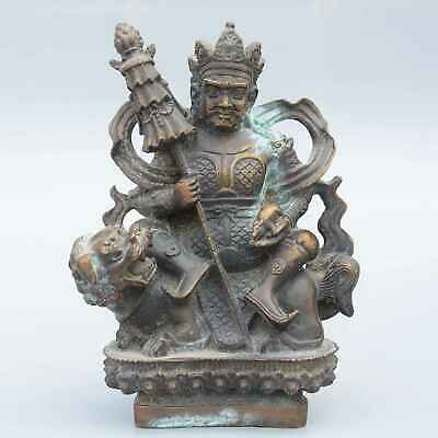 Collectable China Old Bronze Hand-Carved Moral Exorcism Buddhism Decorate Statue