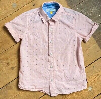 Ben Sherman Boys Summer Shirt Age 5 Years Pink Short Sleeves