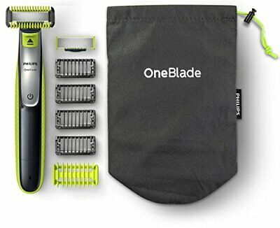 Philips OneBlade Hybrid Body and Face Stubble Trimmer with 4 x Lengths, One
