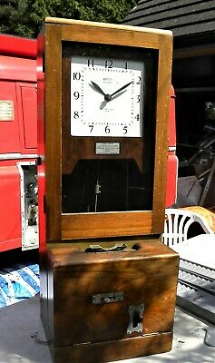 Clocking in clock, Time Recorder Clock, with time card holders
