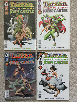 Tarzan Warlords Of Mars, Complete Set #1-4,  Dark Horse Comics,Vf/Nm Grade