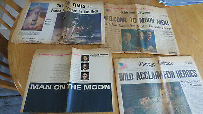 Newspapers from 1969 Featuring Moon Landing.  Lots of Pictures!