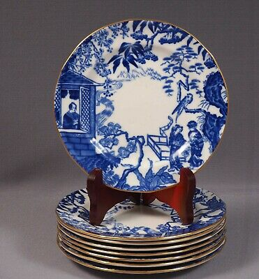 Royal Crown Derby Mikado Blue Bread and Butter Dessert Plate Bone china Older